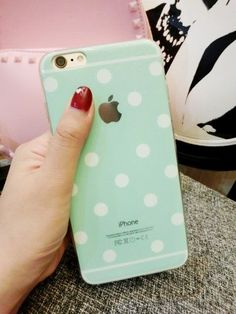 polka dot tpu phone case for iphone 5 5s 6 6plus  pink / mint green / white / black / gold