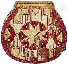 Mi'kmaq bark box embroidered with porcupine quills. In the Denver Art Museum, Colorado, USA. North American Indian Tribes, American Indian Art, Native American Indians, Native Americans, Native Canadian, Gourd Art, Native Art, First Nations, Tribal Art