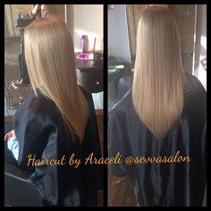 Conversion layers also known as V haircut done by Araceli Von Rothfelder @sevvasalon
