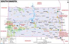 South Dakota (SD) Map