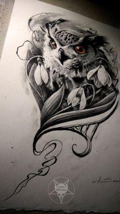 owl by AndreySkull on @DeviantArt