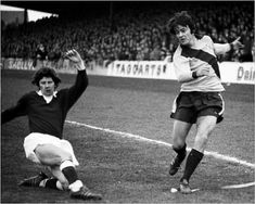 Motherwell 2 Hearts 0 in Jan 1976 at Fir Park. Action from the SPL clash. English Football League, Hearts, Running, 1970s, Action, Park, Group Action, Keep Running, Why I Run