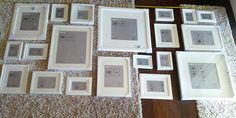 Picture collage layout...with IKEA frames