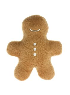 Small gingerbread man, plush dog/puppy toy. Complete with squeaker.