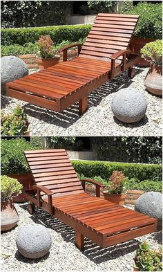 Resting under sun is preferred by many in the winter season and here is an idea for it, people who like to relax under the sun can copy this idea of the sun lounger. It is great in look as it is painted with brown shiny finish and the pallets are not cut into stylish design due to which it is easy to create it.