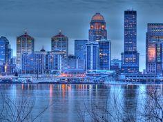 The Louisville, Kentucky Skyline.