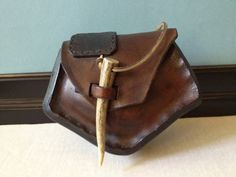Handmade leather hip bag // belt pouch (love the closure)