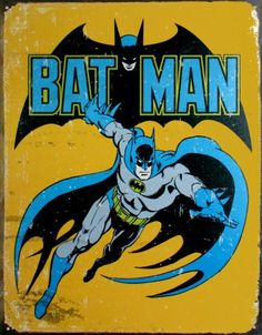 Vintage Super Hero Tin Signs