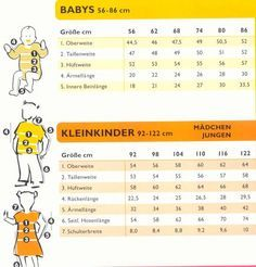 Ottobre - Please always compare your measurements with the table .- Ottobre – Bitte immer Ihre Maße mit der Tabelle vergleichen – Sewing – Ottobre – Please always compare your measurements with the table – Sewing – welcome the - Baby Knitting Patterns, Knitting Stitches, Baby Patterns, Sewing Patterns, Crochet Patterns, Knitting Socks, Diy Crochet Basket, Crochet Baby, Crochet Pullover Pattern