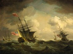 Charles Brooking: An English squadron going to windward