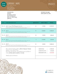 Pink Invoice Template Invoices Pinterest Template Create And - Free invoice template : invoice website