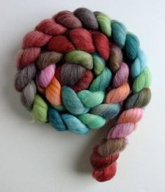 Polwarth Silk, unspun wool roving, spinning fiber, wool roving, combed top, Three Waters Farm, Flowers and Fruit