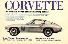 Never been so exciting before… 1965 C2 dealer ad