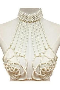 PEARL ROSE BRA BODY CHAIN