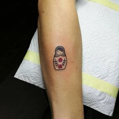 Little Matryoshka Doll Tattoo by czarny_leszy