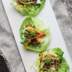 Diced veggies and walnuts replace the meat in these vegetarian lettuce wraps. A reader favorite!