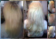 Hajhosszabbítás 50 cm-es európai hajból, mikrogyűrűs tincses technikával, festéssel.  www.hajbevarras.hu www.fb.com/hajbevarras #hajhosszabbítás #hajdúsítás #mikrogyűrű