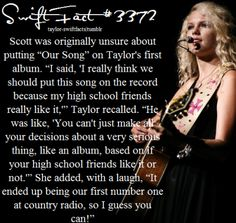 Considering It's the very first song I heard from her (meny years ago) and that now I'm a total Swiftie, I guess she made a great choice! Long Live Taylor Swift, Taylor Swift Facts, Taylor Swift Quotes, Taylor Swift Pictures, Taylor Alison Swift, She Song, Ed Sheeran, My Idol, Love Her