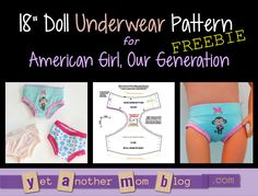 Our Generation, American Girl Doll free underwear pattern