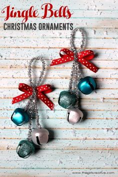 Deck the halls with these festive Jingle Bells Christmas Ornaments. So easy even the kids can do it. Great teacher or neighbor gift idea.