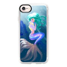 Tropical Mermaid - iPhone 7 Case And Cover ($40) ❤ liked on Polyvore featuring accessories, tech accessories, iphone case, apple iphone case, iphone cover case, clear iphone case and iphone cases