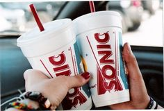 Cherry coke from sonic after our workout class! I hated those classes! Just Girly Things, Good Things, Sonic Drinks, Yummy Eats, Cute Food, Juices, 1990s, Food Food, Girly Things