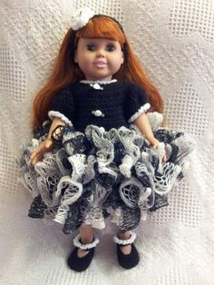 Ruffle Party Dress Set for 18 inch Doll