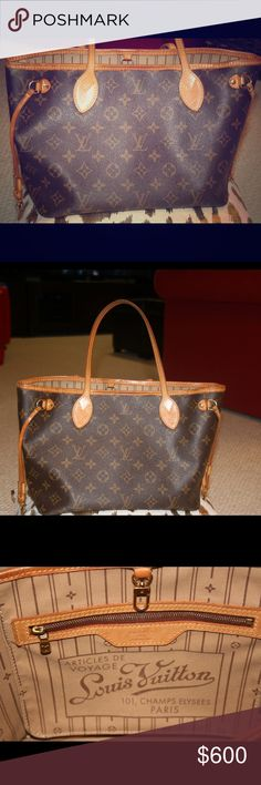 Louis Vuitton Neverfull Tote PM Gorgeous small Neverfull from LV. Gently used with only signs of wear slightly soiled inside base (see photo). Please contact me for more photos! No dust bag unfortunately. Louis Vuitton Bags Totes