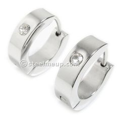 Large collection of high quality stainless steel men jewelry. Silver Hoops, Silver Hoop Earrings, Tiny Stud Earrings, Wedding Rings, Stainless Steel, Engagement Rings, Bracelets, Jewelry, Enagement Rings