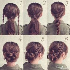 Braided updo for hair - hair styles - Geflochtene Hochsteckfrisur für Haare – Hair Styles Braided updo for hair Braided Hairstyles Updo, Trendy Hairstyles, Easy Hairstyles For Work, Easy Braided Updo, Beautiful Hairstyles, Braids Easy, Messy Braids, Easy Wedding Hairstyles, Braided Hairstyles Tutorials