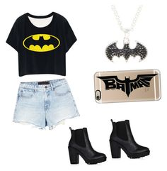 """""""Batman's night-out"""" by writerchic-618 ❤ liked on Polyvore featuring Casetify and Alexander Wang"""