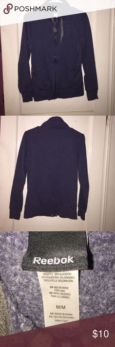 Reebok sweatshirt! Blue, size medium, women's reebok sweatshirt. I have only worn it once so the inside is super soft! It's really comfy and in great condition!! Reebok Sweaters