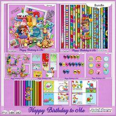 Happy Birthday to Me Bundle by #JulieCDesign #thestudio #digitalscrapbooking