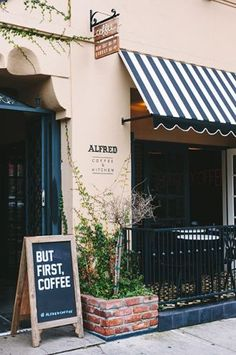 We'll have a cold brew and a raspberry yogurt muffin, please!  Alfred's Coffee in Melrose