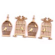 24 Stks Houten Birdcages Handcrafts Naaien Scrapbooking Decoraties Diy Hout Ambachten Versieringen Voor Art Naaien 35x52mm Wood Crafts Wood Diy Wood Crafts Diy
