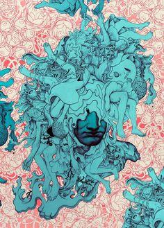 "rfmmsd:  Artist: James Jean ""Coral Head"" Ink and Digital 8.25"" x 11.5"" 2014"