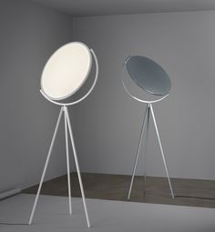 The Superloon floor lamp is a product of Jasper Morrison's longtime partnership with Flos.