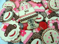 Pink Sock Monkey for Jolie by Vicki's Sweets, via Flickr