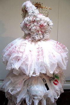Plastic bag dress