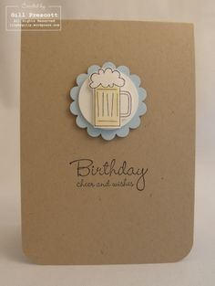 Stampin' Up! - cheers; I know just who to send this to...