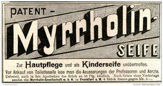 Original-Werbung/ Anzeige 1897 - PATENT MYRRHOLIN SEIFE / KINDERSEIFE   - ca. 140 x 65 mm