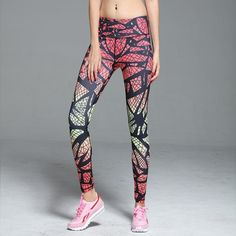 ce05318929a7e0 Full Length - Mid Waist - Colorful Print Design - Fitness Leggings -  Available in 2 Color Styles