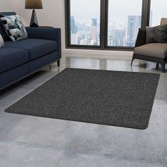 Grey Rug Symple Stuff Rug Size: Rectangle 190 x Living Room Carpet, Living Room Grey, Living Room Modern, Rugs In Living Room, Living Room Decor, Dark Grey Rug, Grey Rugs, Door Rugs, Carpet Size