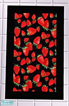 Strawberry Kitchen Rugs Mom Of2boyz S