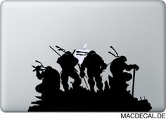 Der Teenage Mutant Ninja Turtles Macbook Sticker!