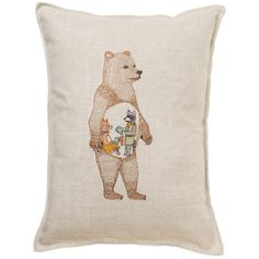 Coral and Tusk - hungry bear pillow - I'm obsessed with this!