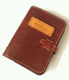Leather journal notebook / book cover / strong function / with card holder
