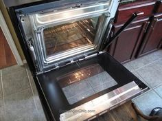 cleaning between the glass on an oven door, appliances, cleaning tips, how to