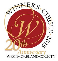 Logo for the 20th Anniversary for the Winner's Circle of Westmoreland County