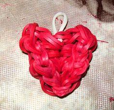 Rainbow Loom Heart Charm / Cute Charm / Iphone Charm / Backpack Charm / Valentine's Day on Etsy, $1.25
